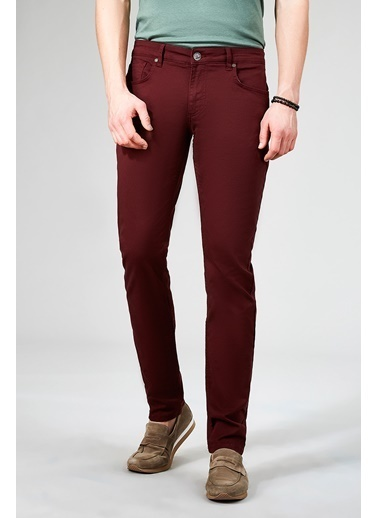 Avva Jean Pantolon Bordo